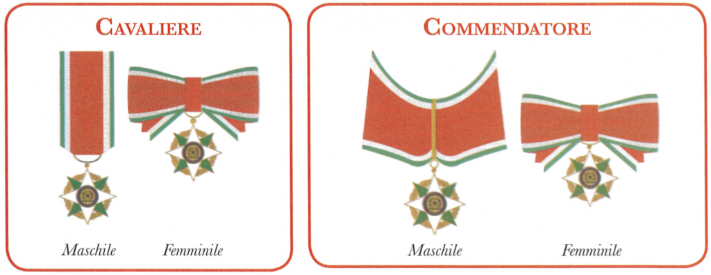 Insegne dell'Ordine della Stella d'Italia - O.S.I..