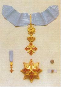 insegne di Cavaliere di Giustizia del Sacro Militare Ordine Costantiniano di San Giorgio