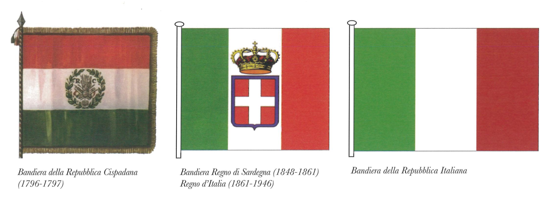 La bandiera nazionale il tricolore italiano u n c i for Bandiera di guerra italiana