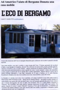 L'Eco di Bergamo, lunedì 31/10/16